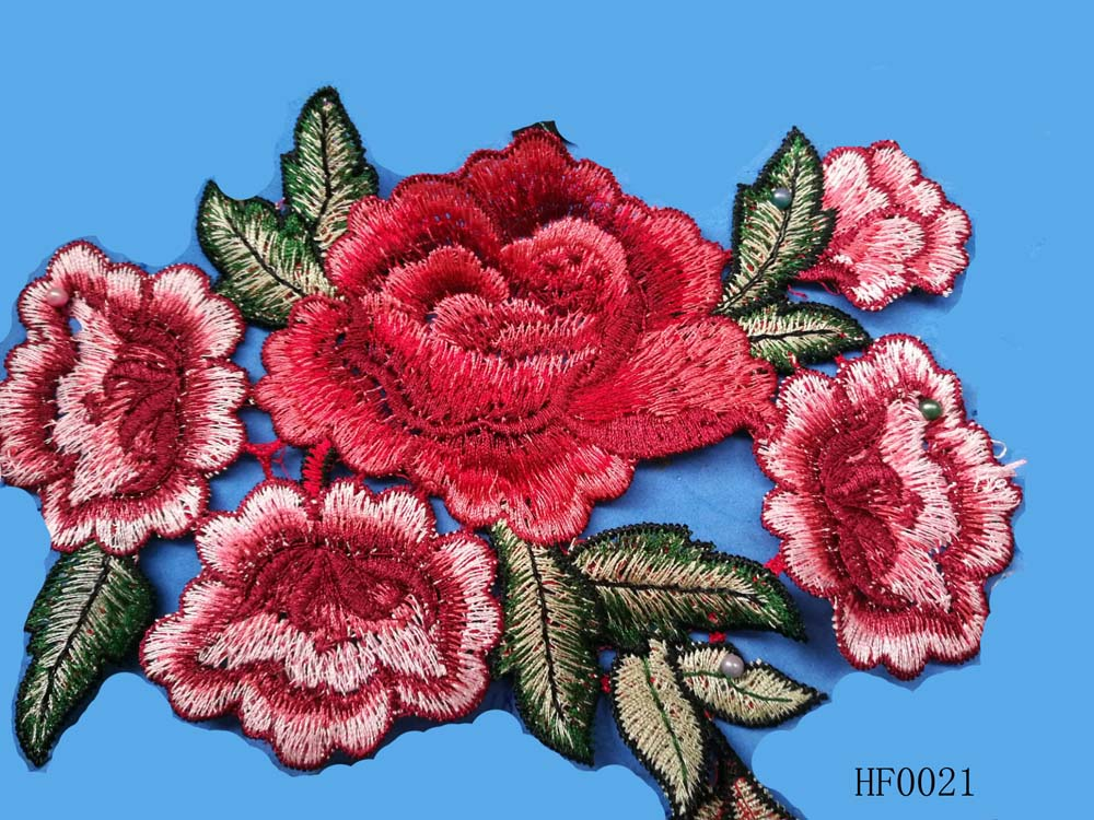 custom embroidered patches in flower design
