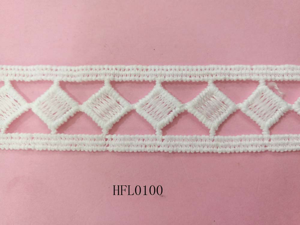 Diamond shape design lace