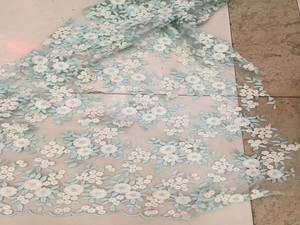 Delicated flower design fabric lace